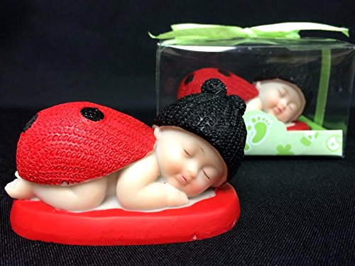 36 Baby Shower Red Ladybug Favor Cake Topper W Box Gift Keepsake by onlinepartycenter