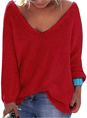 Red V-Neck Jumper - 9