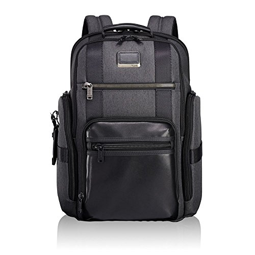 Deluxe Leather Backpack - Tumi Men's Alpha Bravo Sheppard Deluxe Brief Pack Business Backpack, Anthracite, One Size