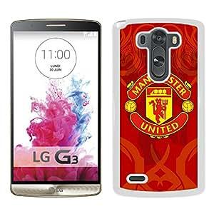 Manchester United 6 White New Design LG G3 Protective Phone Case
