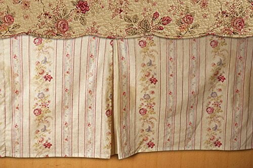 Greenland Home GL-WB0726-BSKQ Antique Rose Bed Skirt, Queen (Renewed) ()