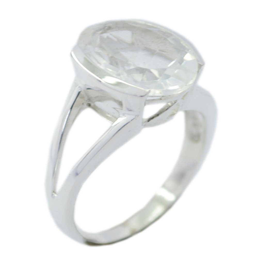 Gemsonclick Fine Crystal Quartz Stone Statement Rings For Her Bezel Style Oval Shape Available Sizes 5-12