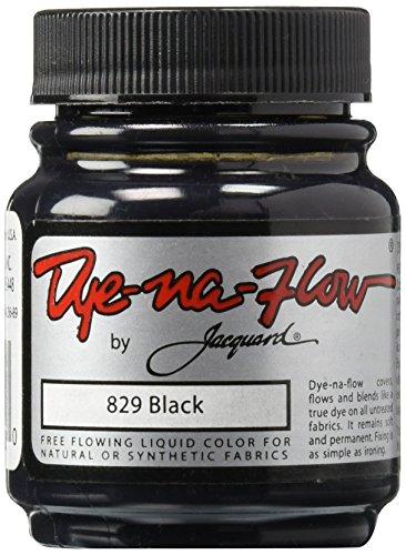 Flow Cloth (Jacquard Dye-Na-Flow Liquid Color 2-1/4 Ounces-Black)