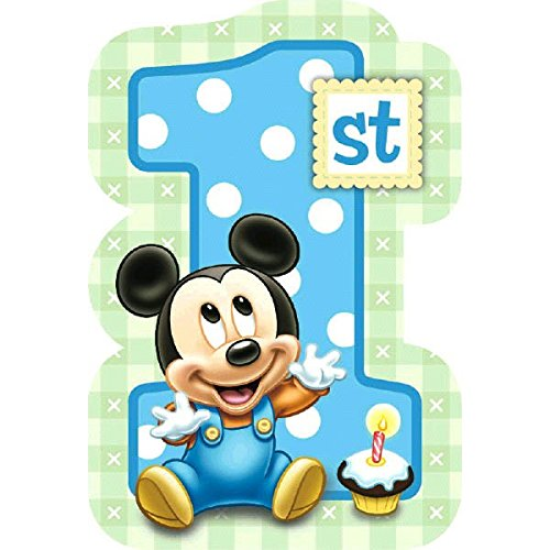 Amscan Disney Baby Mickey Mouse 1St Birthday Invitations, Blue -