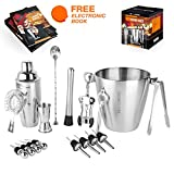 Image of Bar Set Kit by 34andMore - Professional 17 Piece Cocktail Barware Set - Includes Bar Supplies, Tools & Equipment for Professional Drink Mixing in Bars, Restaurants & Home - Best Gift Idea