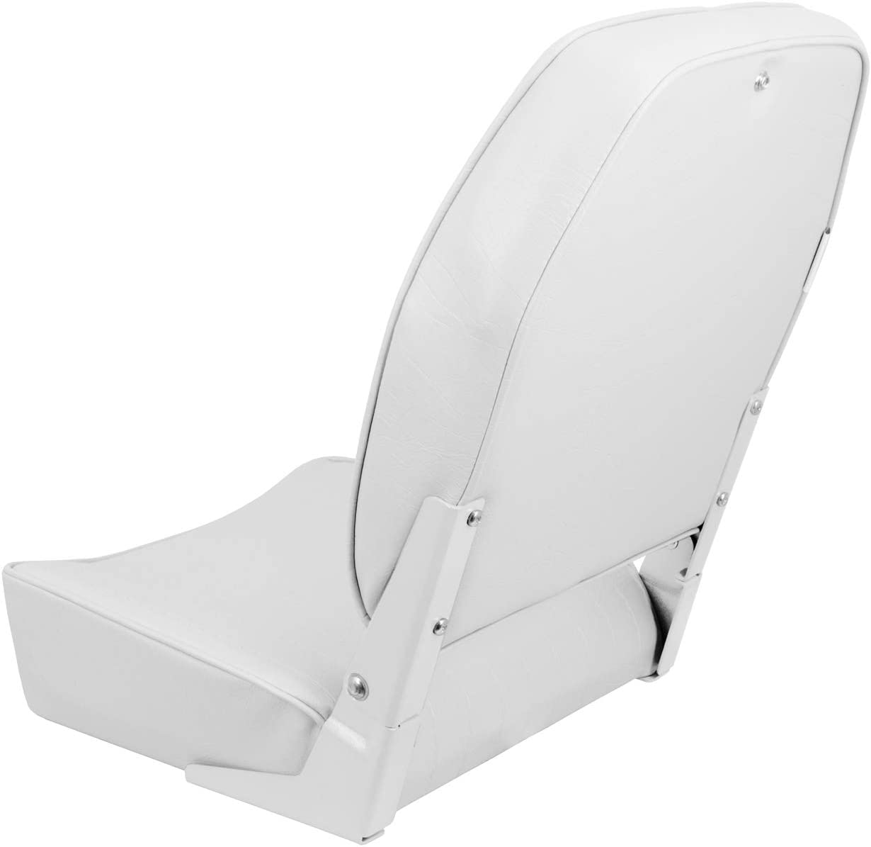 Kimpex Economy High Back Fold Down Boat Seat Chair White Vinyl Waterproof