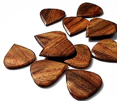 Unique & Custom [Medium Gauge - Traditional Style Sharp Tip] Hard Luxury Guitar Pick Made of Genuine Indian Rosewood Wood