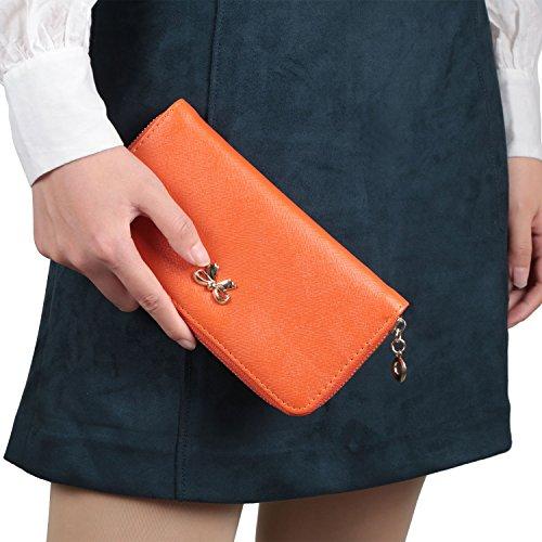 GPCT - Cartera de mano de Piel para mujer naranja