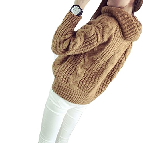 Baggy Manches roul Longues Pull Pull Casual Femme Col Oversize over YqwOS7HxO