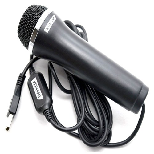 Simply Silver - New USB Microphone Let's Sing 2016 It Lips XBox-1/360 PS2/PS3/PS4 Wii-U PC (Logitech Guitar Hero)