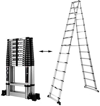 CMXSC Paso escalera telescópica taburete plegable escalera, escalera de aleación de aluminio plegable portátil Ascensor espiga de múltiples funciones conveniente for el hogar Escalada trabajo pesado e: Amazon.es: Hogar