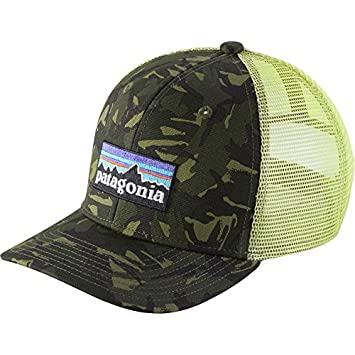 24fd18e3c1a Patagonia Youth Trucker Hat (P6 Logo Big Camo Green