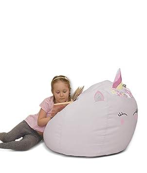 Brilliant 3D Kids Unicorn Beanbag Platinum Medium Amazon Co Uk Baby Creativecarmelina Interior Chair Design Creativecarmelinacom