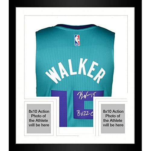 894772e11 85%OFF Framed Kemba Walker Charlotte Hornets Autographed Teal Adidas  Swingman Jersey with