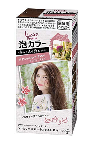 KAO Japan Liese Prettia Creamy Bubble Hair Color for Dark Hair (Provence Rose) (Best Hair Dye For Asian Hair)