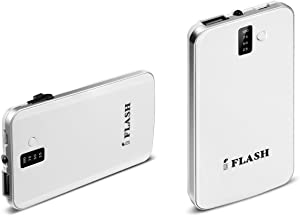 iFlash Ultra Slim 3200mAh Portable Power Bank Backup External Battery Charger with Embedded Micro-USB and Flashlight for iPhone 6+/6/5S/5C/5/4S, iPod Touch, Nano (OEM CABLE REQUIRED for Apple); Android Smartphones: HTC One M7 M8 M9, Samsung Galaxy S6, S5, S4, S3, S2, Galaxy Note 2 / Motorola Moto X/G, LG G2/G3 and Many More Mobile Devices - White [Ultra Slim 0.4 Inch Profile]