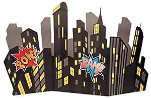 Superhero Comics Party Supplies - Standup City Scape