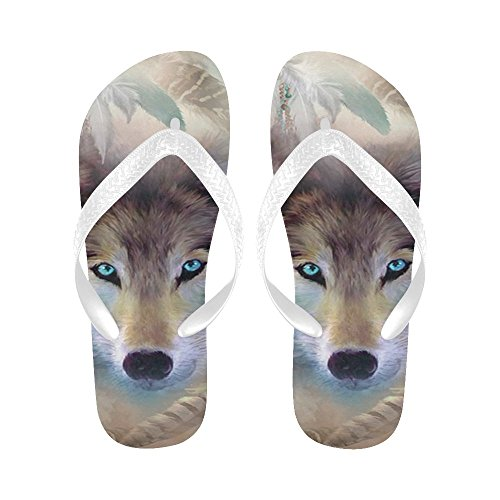 InterestPrint Non-Slip Flip Flop Slippers, Ethnic Indian Elephant Summer Beach Slim Thong Sandal Outdoor Casual Footwear Multi 17