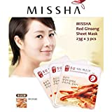 3d Sheet Mask Missha MISSHA Red Ginseng Sheet Mask 3PCS