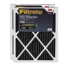 Filtrete Clean Living Home Odour Reduction Filter, MPR 1200, 16x20x1, 2-Pack