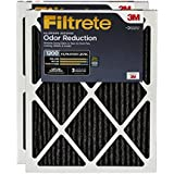 Filtrete MPR 1200 16 x 25 x 1 Allergen Defense Odor Reduction AC Furnace Air Filter, 2-Pack