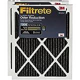 Filtrete MPR 1200 16 x 25 x 1 Allergen Defense Odor Reduction HVAC Air Filter, 2-Pack