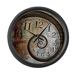 CafePress - Spiral Face - Large 17 Round Wall Clock, Unique Decorative Clock
