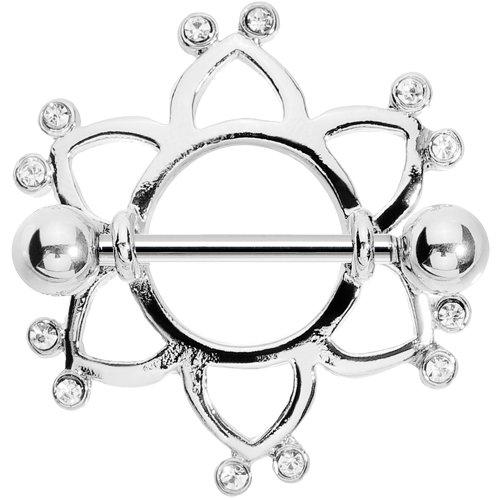 Celtic Nipple Shield - Body Candy Clear Beckoning Celtic Nipple Shield Set of 2