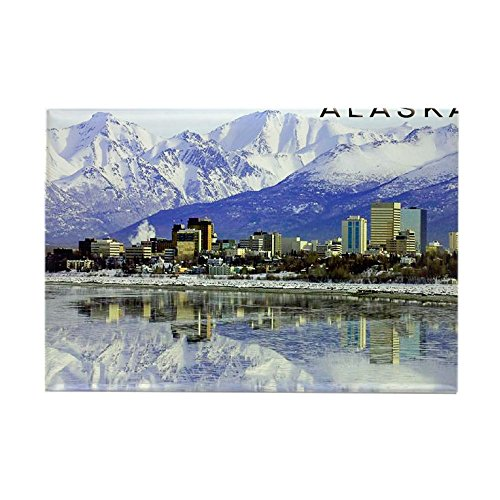 CafePress Large Print_0071_Anchorage-2 Rectangle Magnet, 2