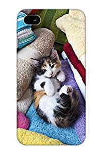 Gsrcla-5481-jvqnjff Hot Fashion Design Case Cover For Iphone 6 4.7 Protective Case (calico Kitten On Towels)