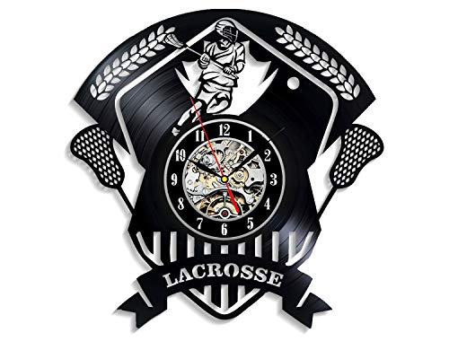 Levescale - La Crosse Vinyl Wall Clock Sport - Perfect Game Gift for Girls, Man, Boy Or Team - Decoration for Sport Club, Playroom, Living Room - Player Loggers Champions Coach]()