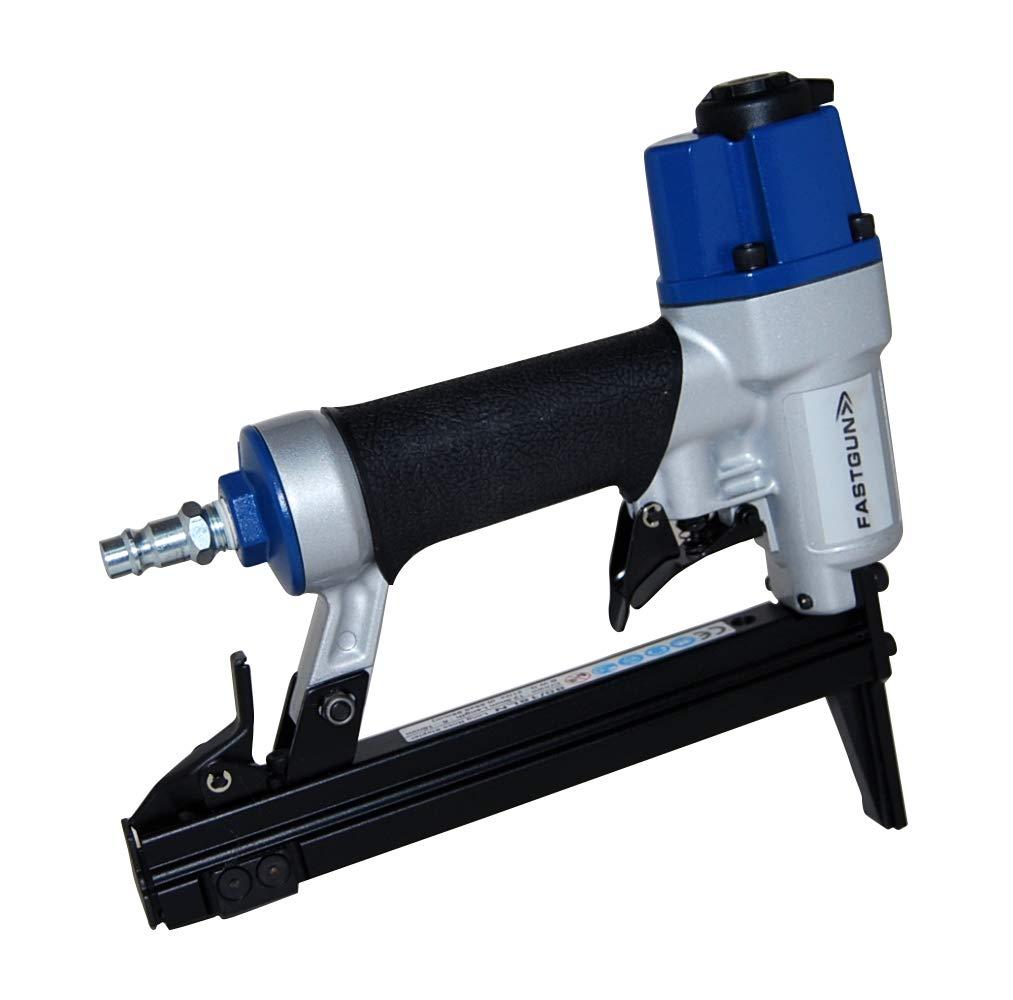Grapadora Neumá tica FASTGUN LU 8016 LN50 - Nariz Larga de 50 mm + 2.000 Grapas - Tapicerí a/Carpinterí a - Profesional