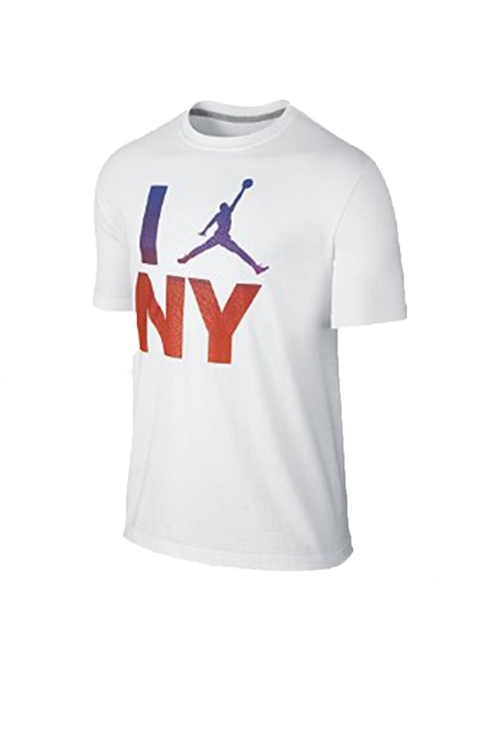 NIKE Men's Air Jordan I Love Ny T- Shirt- White/Red- Large