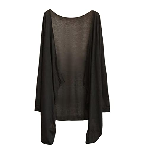 Sky Female Transparent Long-Sleeved Air-Conditioning Cardigan Ultra-Thin In a Long Section Of Sunscr...