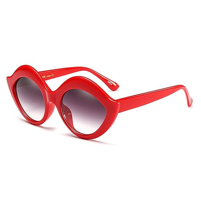 Juleya sexy boca gafas de sol de diamantes de imitación ...