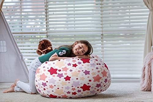 home, kitchen, furniture, game, recreation room furniture,  bean bags 8 on sale WEKAPO Stuffed Animal Storage Bean Bag Chair Cover deals