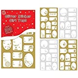 75 foil sticker christmas gift tags labels gold and silver amazon