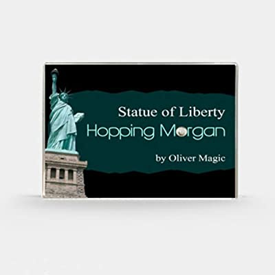 blue-ther Hopping Morgan (Statue of Liberty) by Oliver Magic Coin Magic Tricks Jumping Morgan Coin Gimmick Illusions Close up Magic Props: Toys & Games