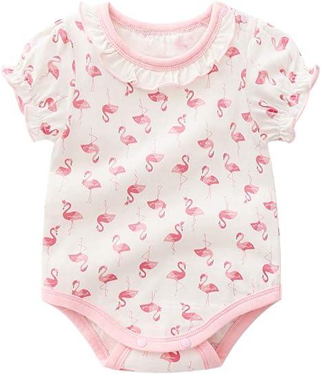 Patrón lindo bebé recién nacido Mono algodón flamenco Bodies bebé Romper manga larga mono del bebé traje de 80cm: Amazon.es: Bebé