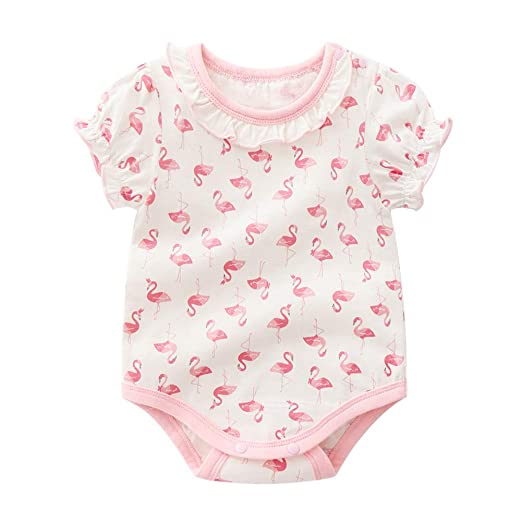 Patrón lindo bebé recién nacido Mono algodón flamenco Bodies ...