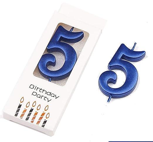 Wawabeauty, Velas de cumpleaños con números, Paquete de 0 a ...