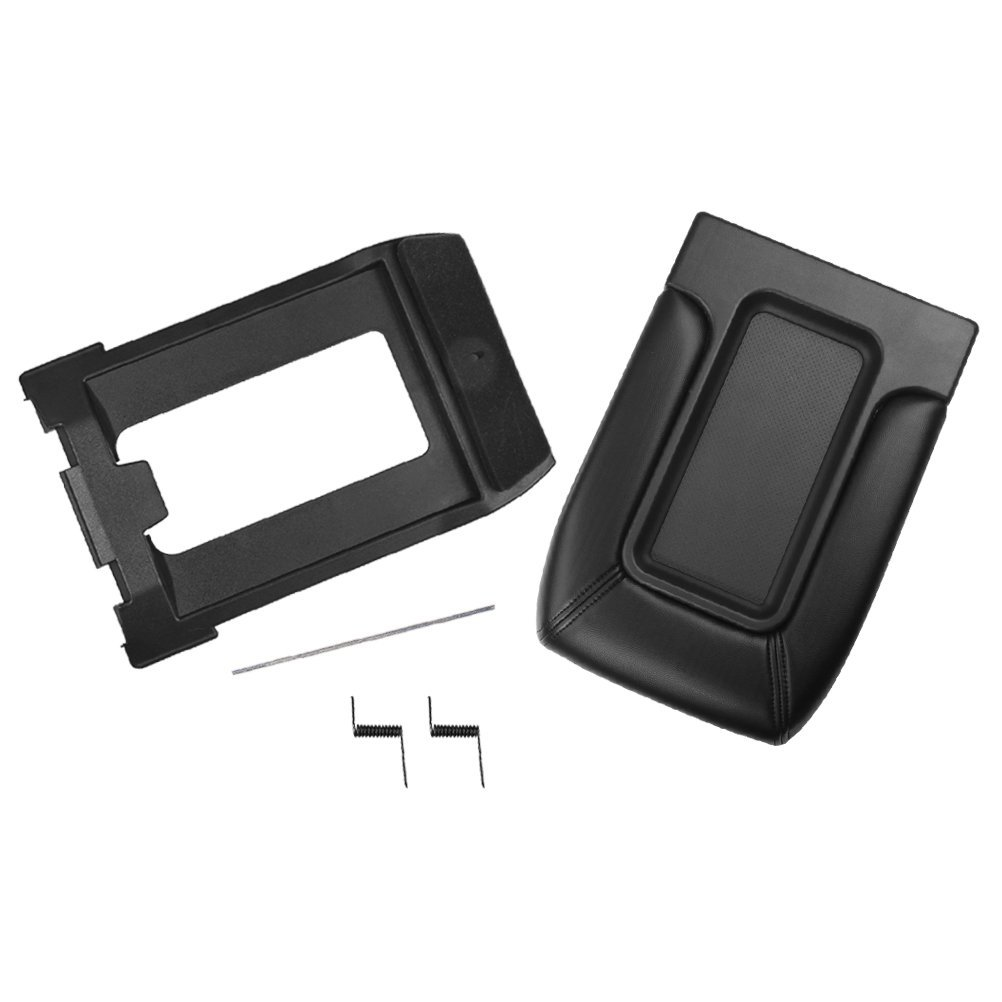 Yukon 19127365 19127364 Suburban Tahoe 924-812 GMC Sierra Replaces# 924-811 19127366 Avalanche Center Console Lid Replacement Kit Black Interior Armrest Hinge Latch AA Ignition 4350410456 Fits Chevy Silverado