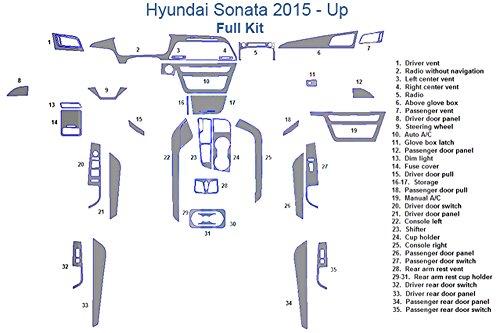 Hyundai Sonata Full Dash Trim Kit – Japanese Cherry Wood