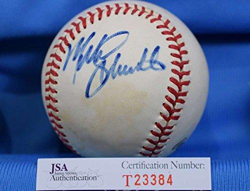 Mike Schmidt Signed Baseball - MIKE SCHMIDT SigneD JSA Feeney National League Baseball Authentic Autographed