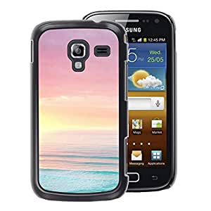 A-type Arte & diseño plástico duro Fundas Cover Cubre Hard Case Cover para Samsung Galaxy Ace 2 (Sea Ocean Summer Sun Beach Purple)