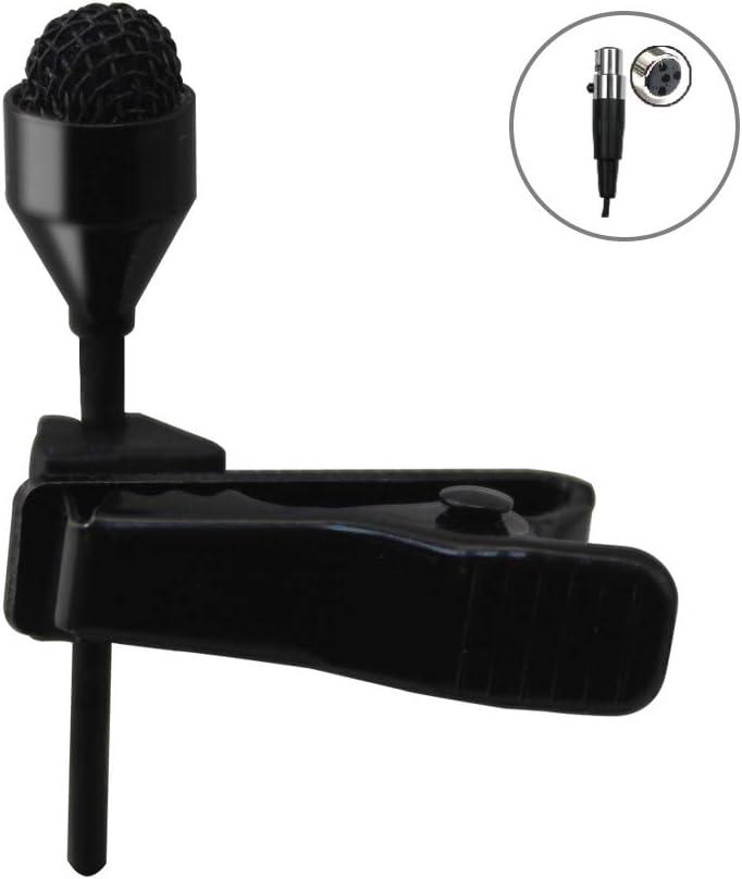 Solapa Lavalier micrófono omnidireccional micrófono de condensador JK® MIC-J 044 Para Shure Transmisor Inalámbrico Mini XLR Ta4F Conector