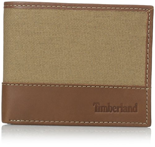 Timberland Mens Canvas - Timberland Men's Baseline Canvas Passcase, Khaki, One Size
