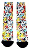 Nickelodeon 90's Cartoons All Over Print Sublimated Crew Socks