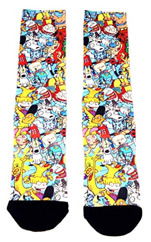Nickelodeon 90's Cartoons All Over Print Sublimated Crew ()