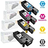 LD © Set of 4 Compatible Toners to Replace Dell C1660w / C1660 / C1660cnw Laser Toner Cartridges: 1 Black 332-0339, Cyan 332-0400, Magenta 332-0401 and Yellow 332-0402, Office Central